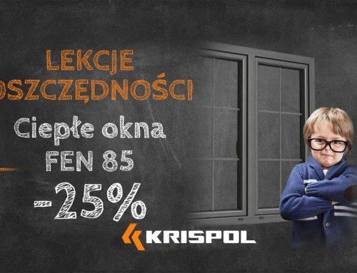 ZAKOŃCZONE – Ciepłe okna FEN 85 – 25%